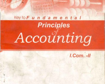 Principles of Accounting I.Com