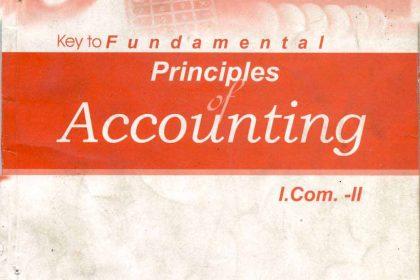 Principles of Accounting I.Com