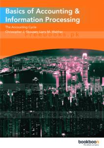 Basics of Accounting & Information Processing 1